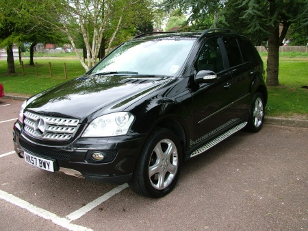 2007 Mercedes ML 420 blac